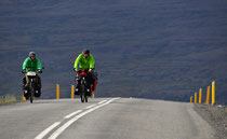 Radfahrer vor Bildudalur