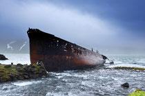 Schiffswrack in Djupavik
