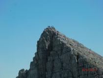Auch der Cima di Terrarossa ist heute vielbesuchtes Ziel