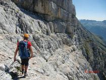 Einstieg in den Leva-Klettersteig