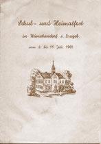 Wünschendorf Erzgebirge Festprogramm 1965 Schulfest