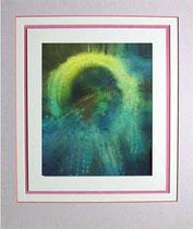 Nr. 15/20  Univerum Acryl  auf Spez. Büttenpapier  48x40 cm inkl. Karton - Passepartout  Euro  180,-
