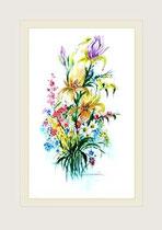 Nr. 2/201   Bl. strauß  Aquarell auf Büttenspezialpapier Fin Art 70x50 cm inkl. Karton - Passepartout  € 230.-