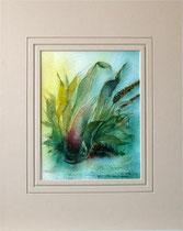 Nr.99/09   Aquarell auf Büttenspezialpapier Fin Art  50x40 cm inkl. Karton - Passepartout  € 150.-