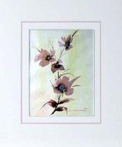 Nr. 99/06  Bl.  Aquarell auf Büttenspezialpapier Fin Art 60x50 cm inkl. Karton - Passepartout € 240.-