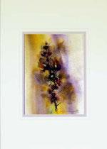Nr 98/01 Bl.   Aquarell auf Büttenpapier Fin Art 70x50 cm inkl. Karton - Passepartout,  Metallrahmen Gold eluxiert, Glas mit Rückwand  € 380.-