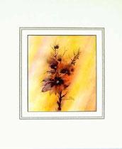 Nr.90/03  Blüten.  Aquarell auf Büttenpapier Fin Art 60x50 cm inkl. Karton - Passepartout  € 280.-