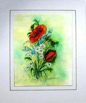 Nr.2/02 Wiesenb.   Aquarell auf Büttenspezialpapier  Fin Art  60x50 cm inkl. Karton - Passepartout  €  290.-