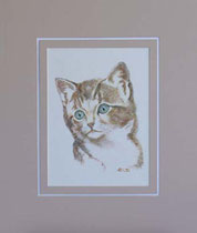 Nr. 16/20  K.I   Aquarell auf Büttenspezialpapier  Fin Art 50x40 cm inkl. Karton - Passepartout  €  180,-