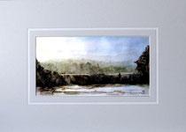 Nr. 87/03  Aquarell auf Büttenspezialpapier Fin Art 70x50 cm inkl. Karton - Passepartout  € 270,-