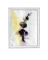 Nr. 90/01 Bl. II  Aquarell auf Büttenpapier Fin Art  50x40 cm inkl. Karton - Passepartout,  Metallrahmen Silber eluxiert,  Glas mit Rückwand € 260.-