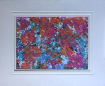 Nr.4/04  Acryl  auf Spez. Büttenpapier  75x60 cm inkl. Karton - Passepartout,  Glas, Metallrahmen  Gold eluxiert u. Rückwand  € 350,-
