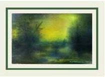 Nr.97/08 W. Lichtung   Aquarell auf Büttenspezialpapier  Fin Art  52,5x37 cm inkl. Glas - Blendfrei,  Holzrahmen  mit Rückwand  € 360,-