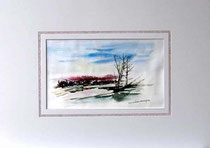 Nr. 92/01  Aquarell auf Büttenspezialpapier  Fin Art  60x50cm inkl. Karton - Passepartout  € 165.-