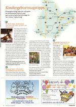 Sonderteil Kindergeburtstagstipps im Krabauter Nr. 12 Oktober & November 2014 mit Artikel und Anzeige Kokolores-aus-der-Kiste.de
