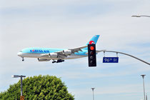 Airbus A380 on 96th street - LAX Intl.Airport