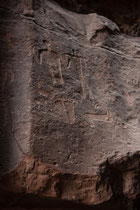 Jabal Kazali rock art - Wadi Rum