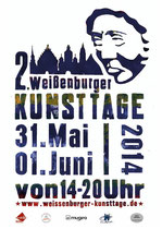 Plakat für die 2.Kunsttage 2014 in Weissenburg
