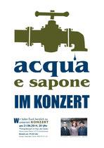 Plakat für die Band acqua e sapone aus Gunzenhausen