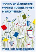 Plakat für die Schul- und Stadtbücherei Ginzenhausen