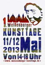 Plakat für die Kunsttage 2013 in Weissenburg