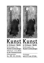 Austellungsplakat für Rudolf Schleußinger