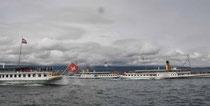 Nyon, Lac Léman, parade navale CGN 2013
