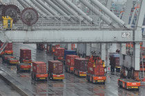 Rotterdam - einer der vollautomatischen Containerhafen