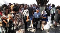Amorgos - Langada, Kirchenfest, Gitziragout für alle