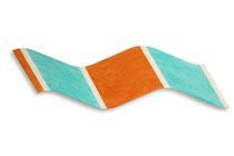 Wave/Flag, acryl on shaped canvas