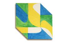 Fuga 1, 2013, 72 x 72 cm, acryl op shaped canvas.