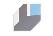 Lichtinval, 2010, 70 x 70cm,  acryl op shaped canvas