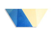 Daklicht, 2011, 62 x 148cm,  acryl op shaped canvas