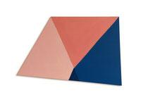 Zonder titel, 2013, 77 x 121cm,  acryl op shaped canvas