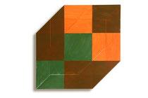 Fuga 5 2014  72 x 72 cm,acryl on shaped canvas