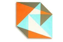 Fuga 6  2014  72 x 72 cm, acryl on shaped canvas