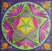 Mandala Purple Lotus - Acrylique sur toile (30x30cm - 80€) - © B. Dupuis