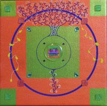 Mandala Hope - Acrylique sur toile (20x20cm - 40€) - © B. Dupuis