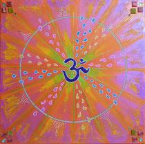 Mandala Om - Acrylique sur toile (30x30cm - 80€) - © B. Dupuis