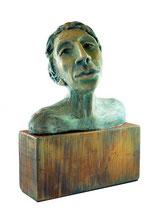 Force tranquille, argile, acrylique e bois, 20cmx15cmx10cm, 2012@mstjean
