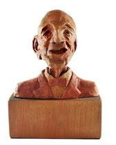 Marcel va aux noces, argile, acrylique et bois, 20cmx15cmx10cm, 2012@mstjean