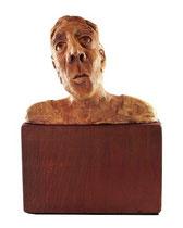 Don Quichotte, argile, acrylique et bois, 20cmx15cmx10cm, 2012@mstjean