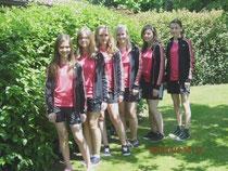 Mädchen - Von links: Hageneder Michelle, Ziegler Tanja, Stirner Celine, Müller Eva-Maria, Widl Sophia, Voggenreiter Eva