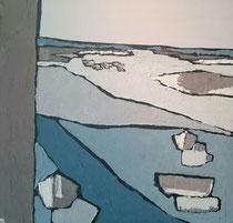 Ambiance Lacustre Lac Hossegor 3 Enduit acrylique sur toile 50x50cm 2018