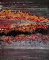 Flamboyant 4 Acrylique sur toile 40x50cm 2016