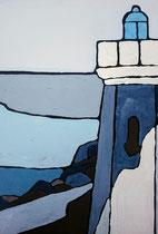 Phare de Capbreton 7 Enduit acrylique sur toile 30x40cm 2018