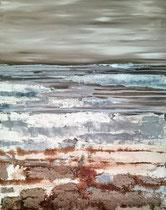 Ambiance océane 10 Mixte sur toile 70x90cm 2017