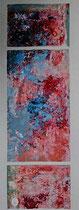 Composition océane 4 Mixte sur toile 18x50cm 2017