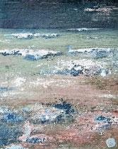 Ambiance océane 19 Mixte sur toile 38x46cm 2017