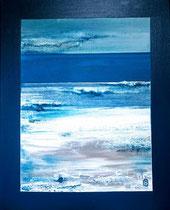 Ambiance Océane 5 Enduit acrylique sur toile 40x50cm 2018